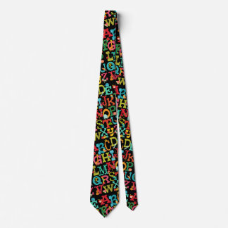 Whimsical Alphabet for Kids Tie