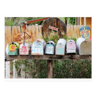 Whimsical and Artsy Mailboxes Postcard