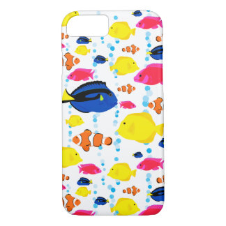 Whimsical and Colorful Tropical Fish and Bubbles iPhone 8/7 Case