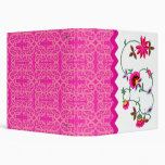 Whimsical and Colourful Flowers 1.5 Inch Binder