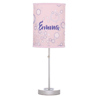 Whimsical and Cute Seahorse Artwork Table Lamp