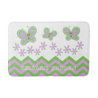 Whimsical and Fun Butterfly Garden Custom Bath Mat