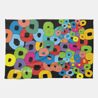 Whimsical and Funky Art Kitchen Towel