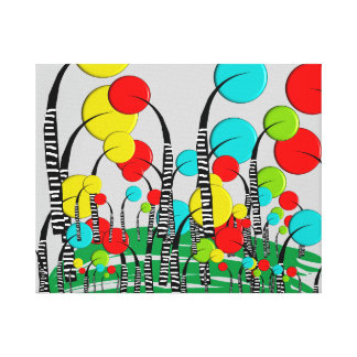 Whimsical and Quirky Tree Art Magical Forrest Canvas Print