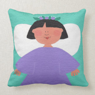 WHIMSICAL ANGEL Cute Flower Girl Square Pillow