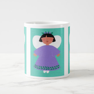 WHIMSICAL ANGEL Original Folk Art Jumbo Mug