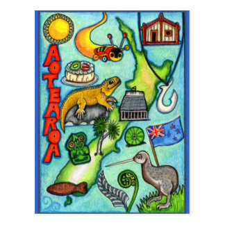 Whimsical Aotearoa Postcard