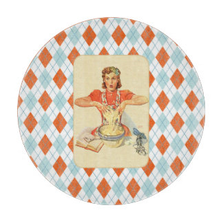 Whimsical Argyle Vintage Cook Boards
