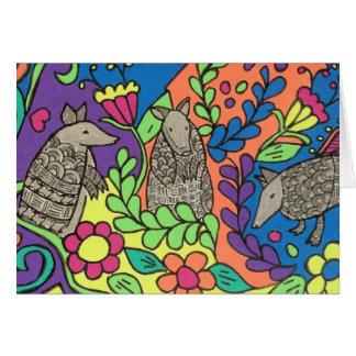 Whimsical Armadillos Greeting Card