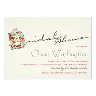 Whimsical B Spring Flowers Bridal Shower Invite