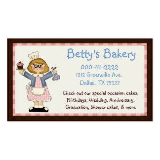 Whimsical Bakery Business Card & Coupon