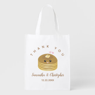 Whimsical Better Together Wedding Thank You Favor Reusable Grocery Bag