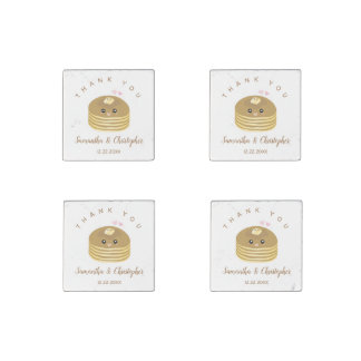 Whimsical Better Together Wedding Thank You Favor Stone Magnets