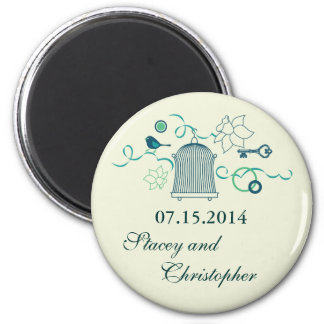 Whimsical Birdcage Save the Date Magnet