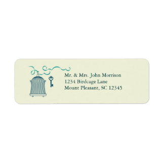 Whimsical Birdcage Wedding Avery Label Return Address Label
