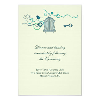 Whimsical Birdcage Wedding Response Card