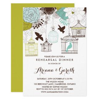 Whimsical Birdcages Rehearsal Dinner Invitation