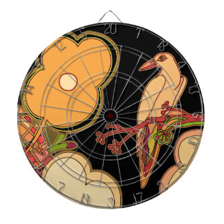 Whimsical Birds (Any color you pick!) Dartboard