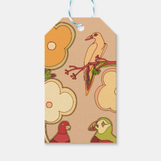 Whimsical Birds (Any color you pick!) Gift Tags