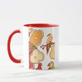 Whimsical Birds (Any color you pick!) Mug