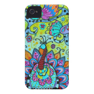 WHIMSICAL BIRDS_PEACOCK iPhone 4 CASE