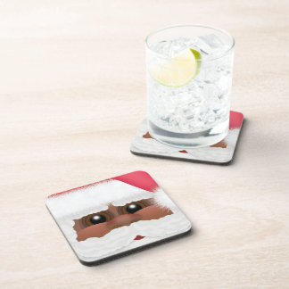 Whimsical Black or African American Santa Claus Coaster
