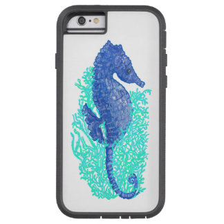 Whimsical Blue Seahorse Case