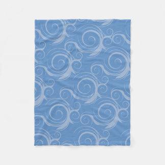 Whimsical Blue Swirl Fleece Blanket