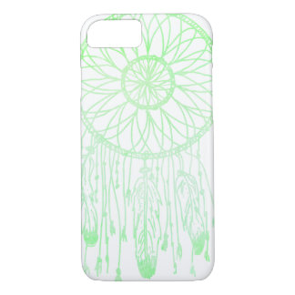 Whimsical Bohemian Dream Catcher Green Watercolor iPhone 7 Case