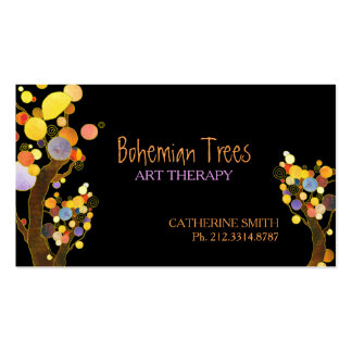 Whimsical Boho Trees Business Appointment Cards Business Card