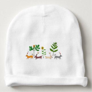 Whimsical Botanical Baby Beanie Hat