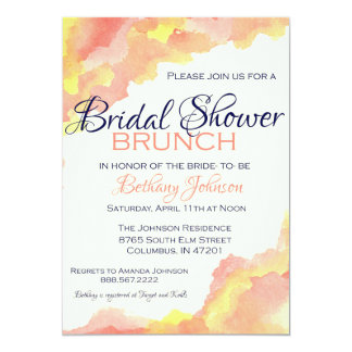 Whimsical Bridal Shower Brunch Card
