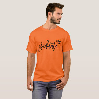 Whimsical Brush Script Graduate with Year T-Shirt