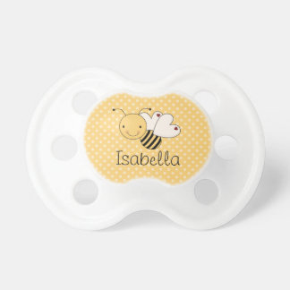 Whimsical Bumble Bee Personalized Pacifiers