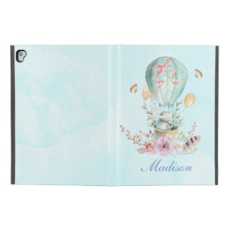 "Whimsical Bunny Riding in a Hot Air Balloon iPad Pro 9.7"" Case"