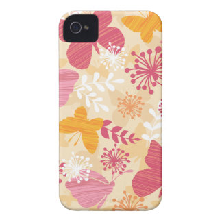 Whimsical Butterflies Pink & Orange Girly iPhone 4 Case-Mate Case
