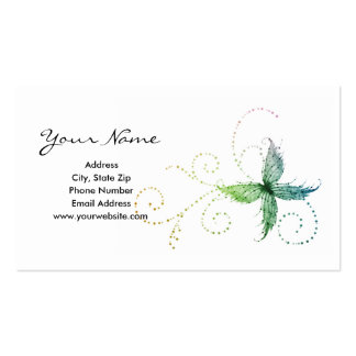 Whimsical Butterfly Business Cards