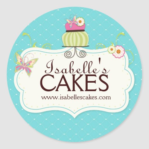 Whimsical Cake Labels Sticker
