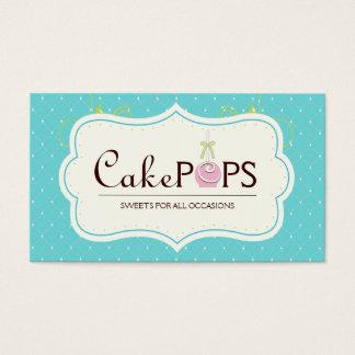 Whimsical Cake Pop Business Card