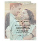 Whimsical Calligraphy | Faded Photo Formal Wedding Card