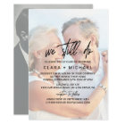 Whimsical Calligraphy | Faded Photo Vow Renewal Card