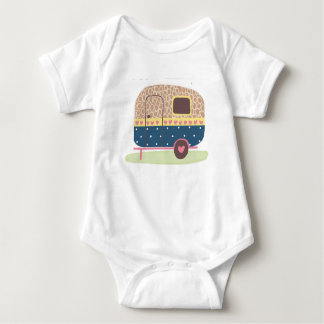 Whimsical Camp Trailer Baby Bodysuit
