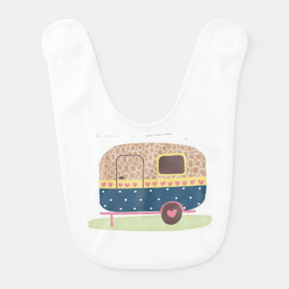 Whimsical Camp Trailer Bib