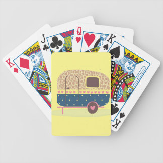 Whimsical Camp Trailer Bicycle Playing Cards