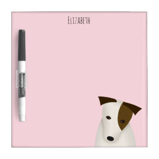 whimsical cartoon Jack Russell Terrier Dry-Erase Whiteboards