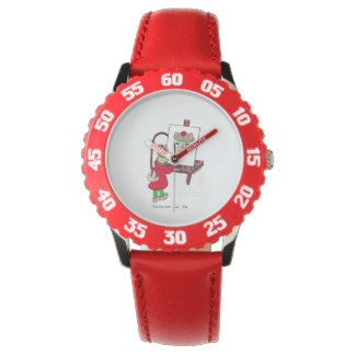 Whimsical cat kids watch