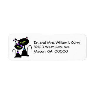 Whimsical Cats Wedding Address Labels