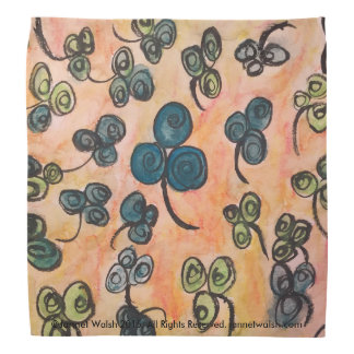 Whimsical Celtic Shamrock Bandana