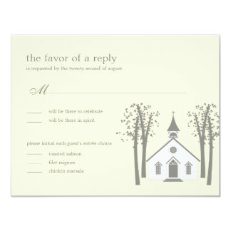 Whimsical Chapel Wedding RSVP / Response Card