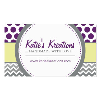 Whimsical Chevron and Dots Pack Of Standard Business Cards